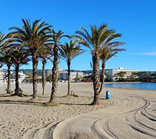 playa de arena El Arenal